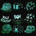 2016 НОВЫЙ флуоресцентный свет мужской Г-Жа шляпу хип-хоп hat cap Черный BTS EXO хип-хоп hat плоским брим бейсбол hat МАЛЬЧИК Бейсболки