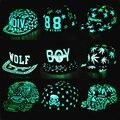2016 NOVA luz fluorescente masculino Ms. chapéu hop cap chapéu Preto BTS hop chapéu EXO borda plana chapéu de basebol Bonés de Beisebol MENINO