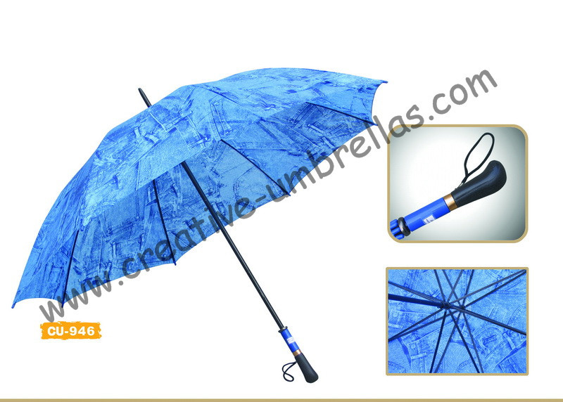 Free shipping by sea,190T polyester jean printed fabric 14mm metal shaft and ribs,hand open advertising golf umbrella,windproof