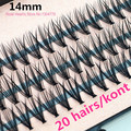 Free Shipping 57 knots 20 hairs/kont Black 8/10/12/14mm MINK Eyelash Extension Artificial Eyelash Fake False Eye Lash Eyelashes