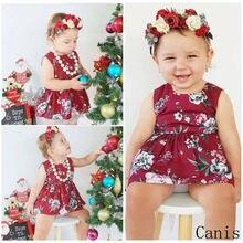 купить Lovely Toddler Baby Girl Sleeveless Flower Summer Party Dress Sundress Clothes Newest Fashion Baby Girls Floral Dress Outfits по цене 321.75 рублей