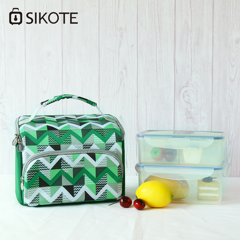 SIKOTE Fresh Keep Lunch Bags Canteen Bag square thicken Storage Portable Thermal Insulated Multi-Function Cooler Bag