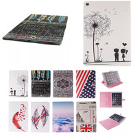 US UK Flag Stand Tablet Cover Cute Cartoon Flip PU Leather+TPU Shell Case For Apple Ipad Pro 12.9