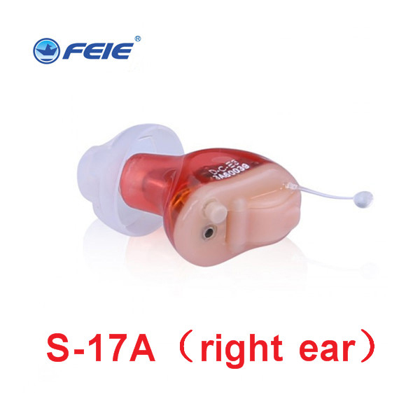 2018 New Hot Selling Ite Hearing Aid Portable Small Mini In The Ear Invisible Sound Amplifier Adjustable the Digital Aids S 17A