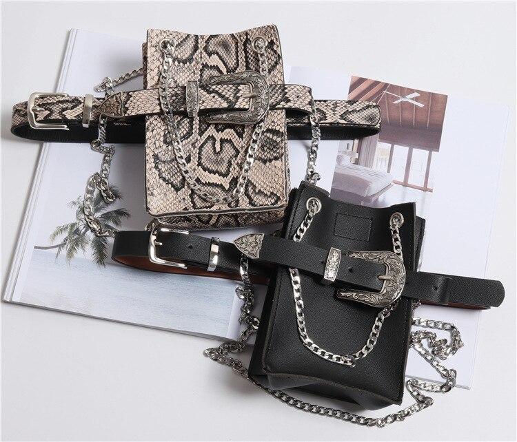 Fashion Animal Printe Ladies Belt Bag 2019 New Design Detachable Waist Bag Chain Trendy Women Fanny Pack Lady Fashion Belts B18