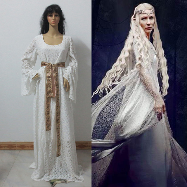 Halloween cosplay lord of the rings galadriel dress The hobbit and