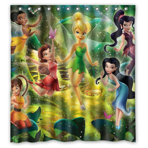 Polyester Fabric Bath Curtain For Child Printed Cute Cartoon