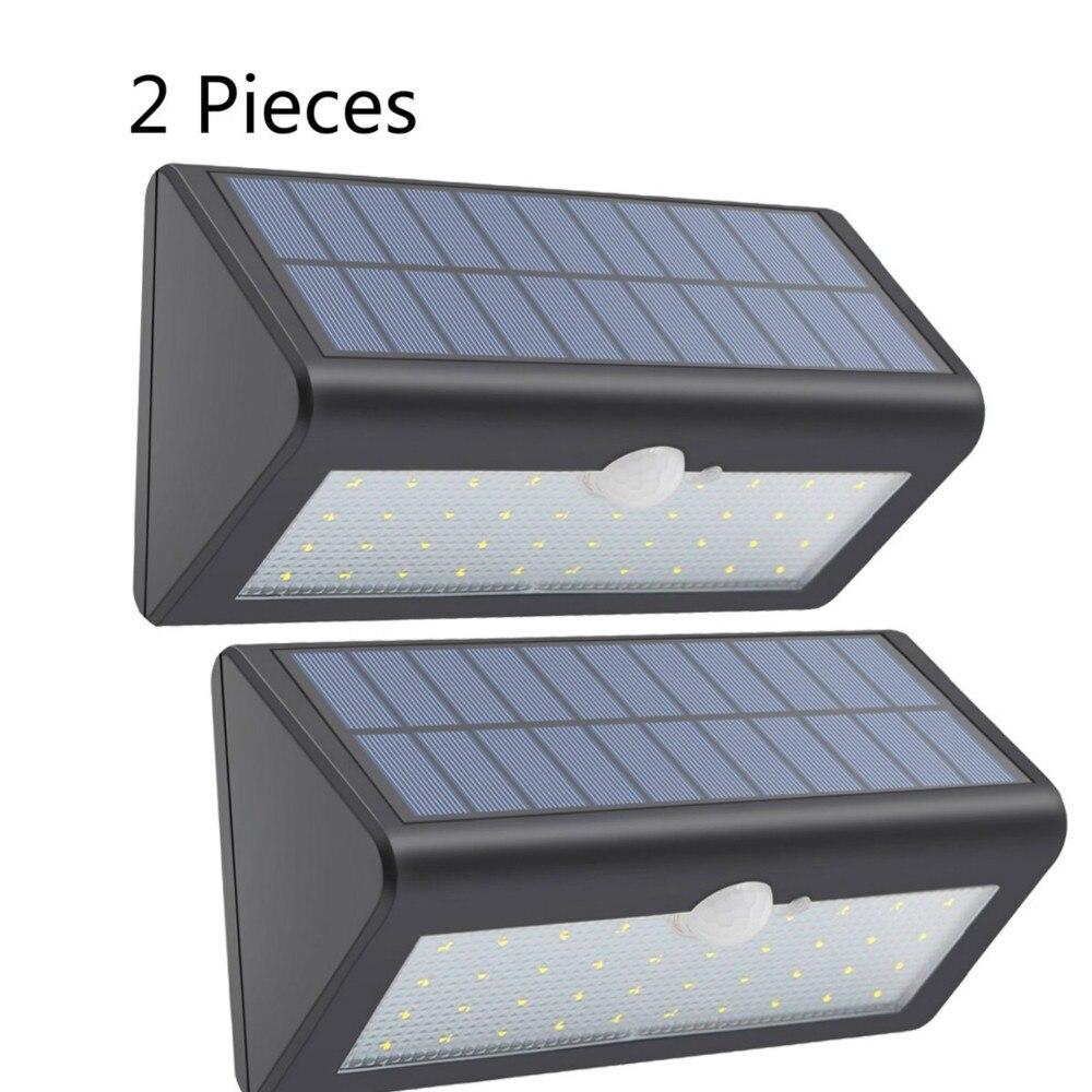 luz solar ao ar livre lâmpada led luzes de rua 2 peças
