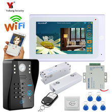 Yobang Security 7″ TFT Wired / Wireless Wifi RFID Password Video Door Phone Doorbell Intercom System with Electric Lock