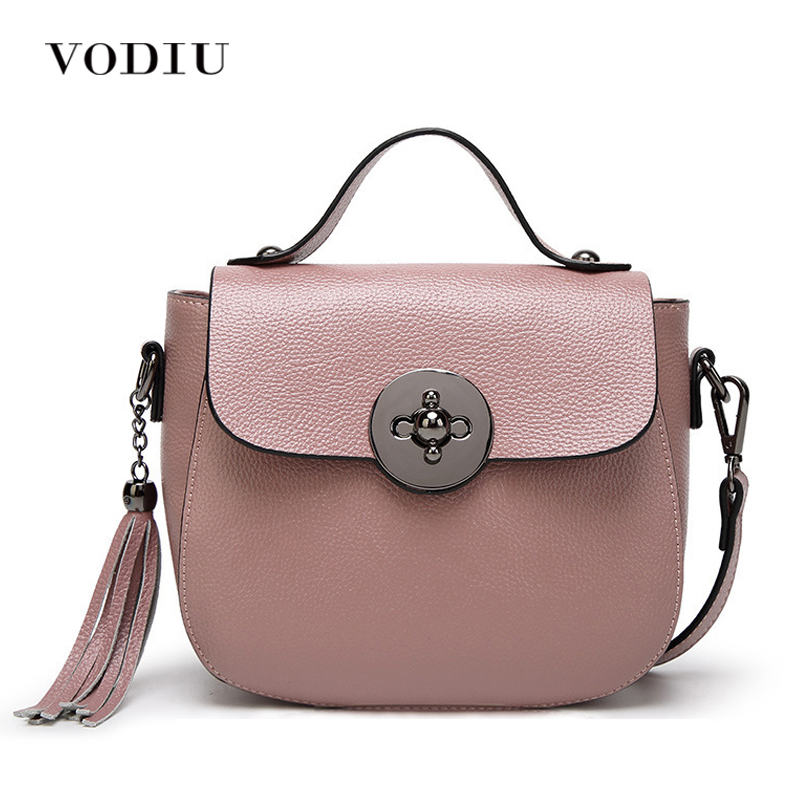 цены на Women Bags Handbag Tote Crossbody Over Shoulder Sling Genuine Leather Messenger Fringe Tassel Pig Lock Luxury Designer Female