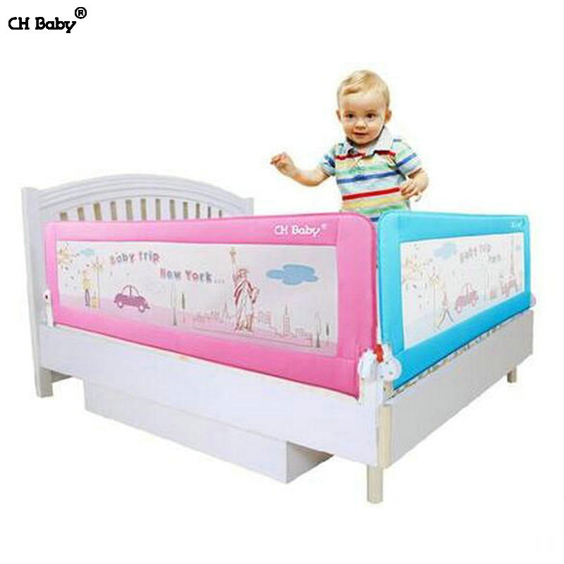 CH Baby 64cm height baby bed rail steel frame child bed safety barrier for general bed 180cm/150cm/200cm for available