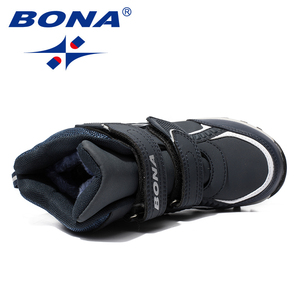 Image 5 - BONA New Classics Style Children Boots Hook & Loop Boys Snow Boots Leather Boys Ankle Boots Outdoor Fashion Sneakers