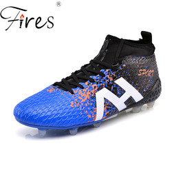Fires long spikes soccer shoes boots for men sports shoes outdoor boys football shoes2017 men high.jpg 250x250