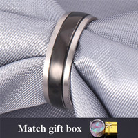 New Hot Sell Men's Cool Band Ring 316L Stainless Steel Fashion Ring For Women Wedding Ring With GIFT BOX Wholesale MGC GR445