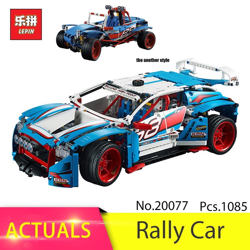 Lepin 20077 1085Pcs Technic Series The Rally Car Set 42077 Building Blocks set Bricks Educational DIY Toys For Children Gifts lepin technic city 2 in 1 rally car building blocks set bricks classic model kids toys for children gift compatible legoe