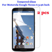2 Pcs/Lot For Nexus 6 Tempered Glass 9H 2.5D Premium Screen Protector Film For Motorola Google Nexus 6 XT1100 XT1103 5.96""