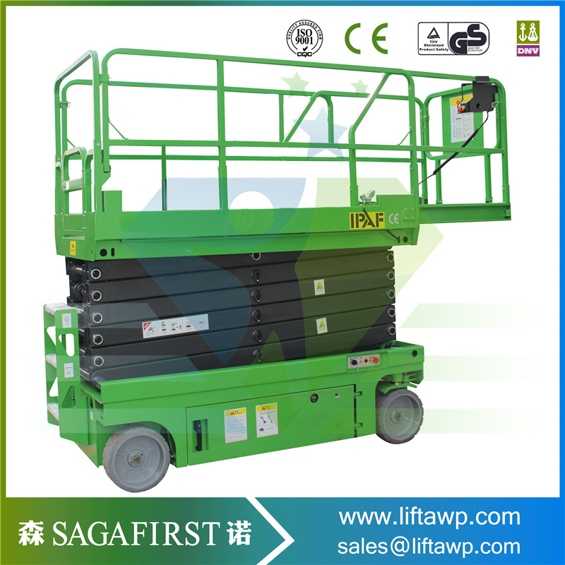 6m Self Propelled Aerial Working Lift  Automatic Mobile Scissor Lift