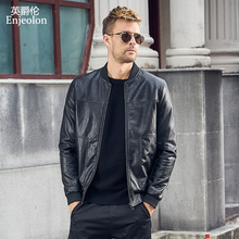 Enjeolon Brand New PU Motorcycle Leather Jackets Men Autumn Winter jacket Coat Classical Male Casual Black PU Jacket Coats P353
