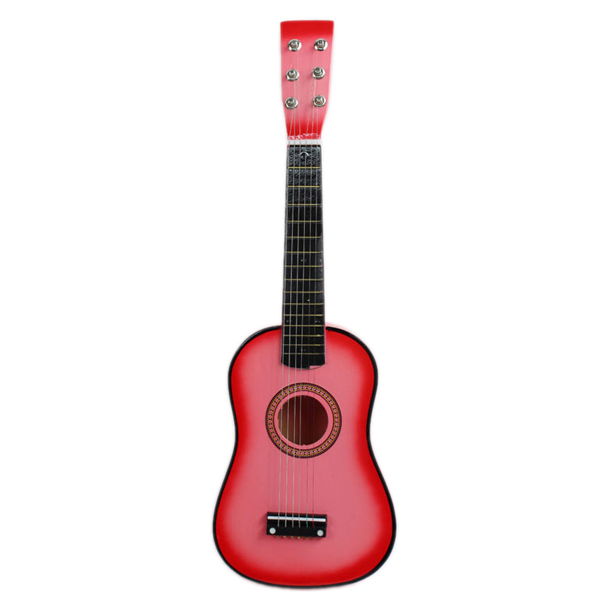 hot pink 23 guitar mini guitar basswood kid 39 s musical toy acoustic stringed instrument with. Black Bedroom Furniture Sets. Home Design Ideas