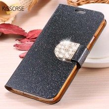 KISSCASE Fashion Bling Diamond Glitter Leather Case For Samsung Galaxy Note 3 4 5 Flip Stand Card Slot Cover For Galaxy S3 S4 S5
