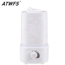 ATWFS Aromatherapie luftbefeuchter Fogger LED Nacht Licht Carve Aroma Diffuser Nebel Maker Diffusor für Home Office Öl Ultraschall