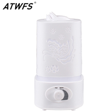 ATWFS Nebulizador Aromaterapia Humidificador de Aire LED Luz de Noche Tallar Aceite de Ultrasonidos Difusor de Aroma Difusor Fabricante de la Niebla para Ministerio del interior