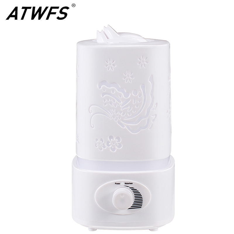 Free Shipping Aromatherapy Air Humidifier Fogger LED Night Light With Carve Design Aroma Diffuser Mist Maker