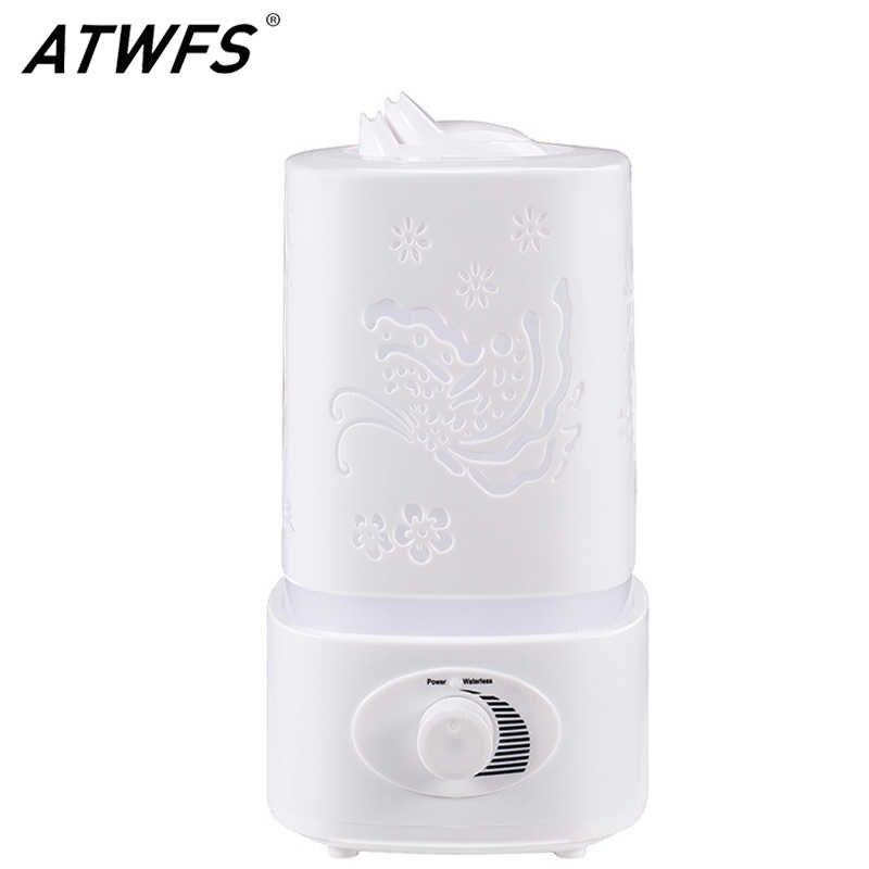 ATWFS aromaterapi hava nemlendirici sisleyici LED gece lambası Carve AROMA YAYICI Mist Maker difüzör ev ofis için yağ ultrasonik