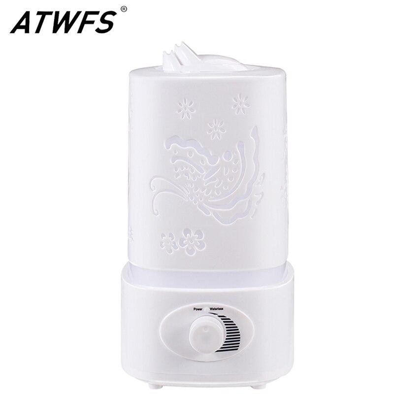 ATWFS aromaterapia humidificador de aire nebulizador LED luz de noche difusor de Aroma difusor para el hogar aceite de oficina ultrasónico