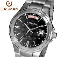 Easman мужчины часы черный мода сапфир водонепроницаемый свободного покроя 2015 новый босс многофункциональный бизнес кварцевые часы для человека наручные часы