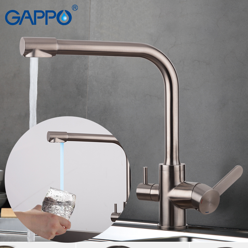 Gappo Kitchen Faucets Griferia With Filtered Water Taps Stainless