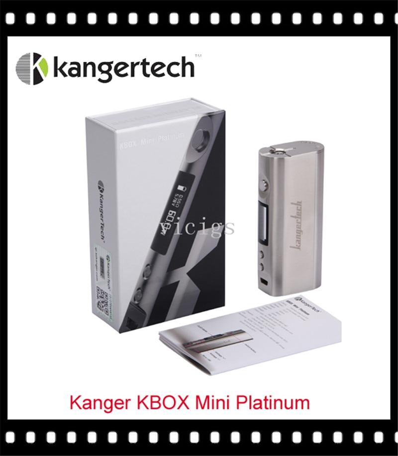 100% Original Kanger KBOX Mini Platinum Temperature Control 60W Box Mod original kanger kbox 200w mod temperature control variable wattage box mod suit for 18650 battery kbox 200w in stock