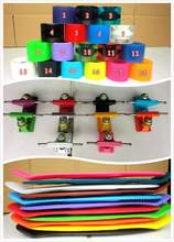 free shipping 22″ 2015 Mini Plastic Skateboard  10pcs color decks+color trucks +color wheels by FEDEX