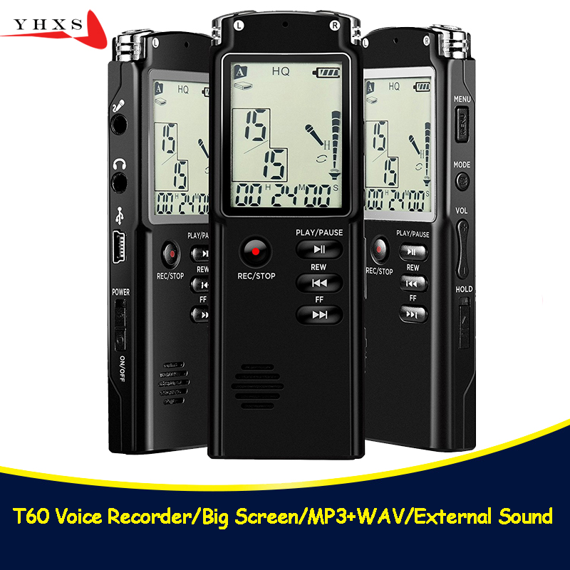 Portable 32GB Original Voice Recorder USB Professional 96 Hours LCD Dictaphone Digital Audio Voice Recorder with WAV MP3 Player arduino wav player 22 1khz voice play sound broadcast module compatible with rpi stm32
