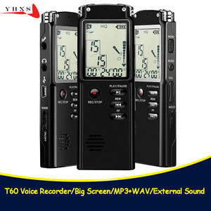 Portable 32 GB Voice Recorder with WAV MP3 Player USB Professional 96 Hours LCD Dictaphone