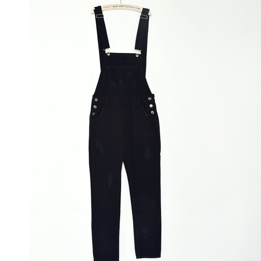 Black Jean Jumpsuit