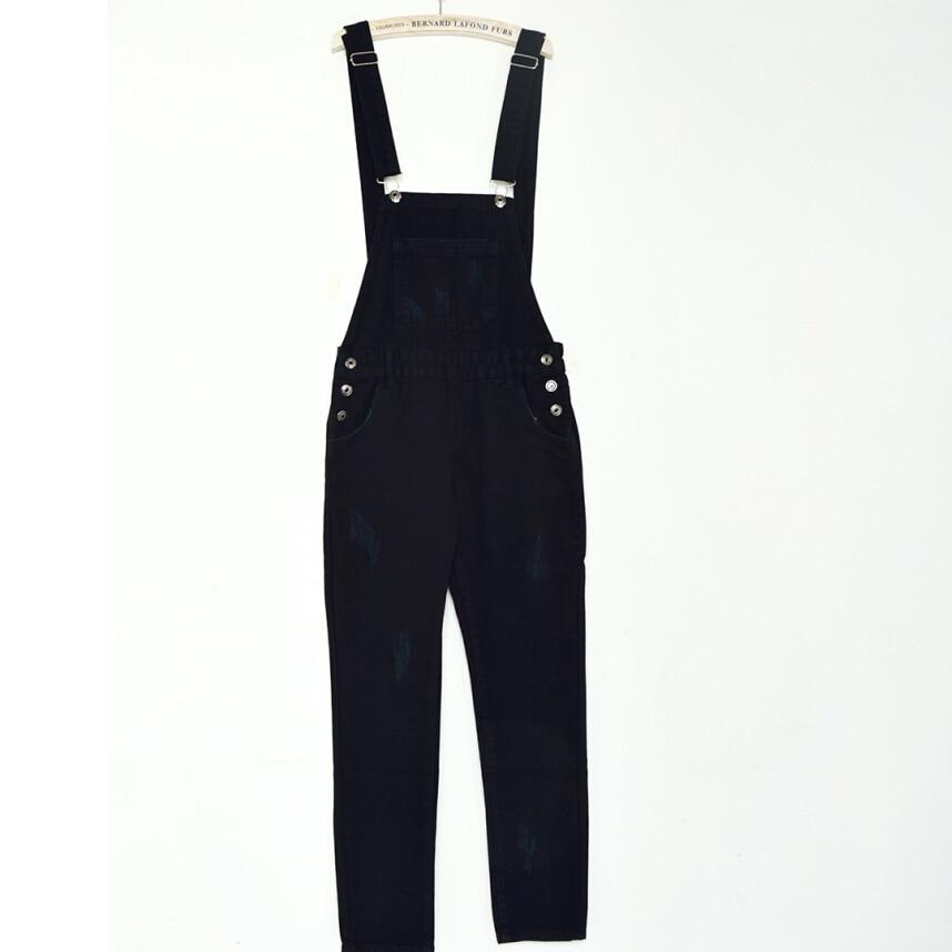 Black Jean Jumpsuit