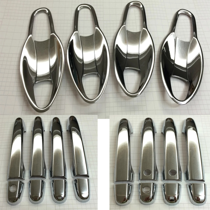 Accessories Fit For Honda Crv Cr-v 2015 Chrome Door Handle Cover Bowl Cup Cap Trim Molding Garnish Overlay
