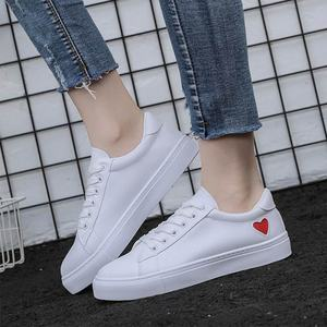 Image 5 - Women Sneakers  Fashion Vulcanized Shoes Casual PU Leather Sneakers White Ladies Trainers Summer Basket Femme Zapatos De Mujer