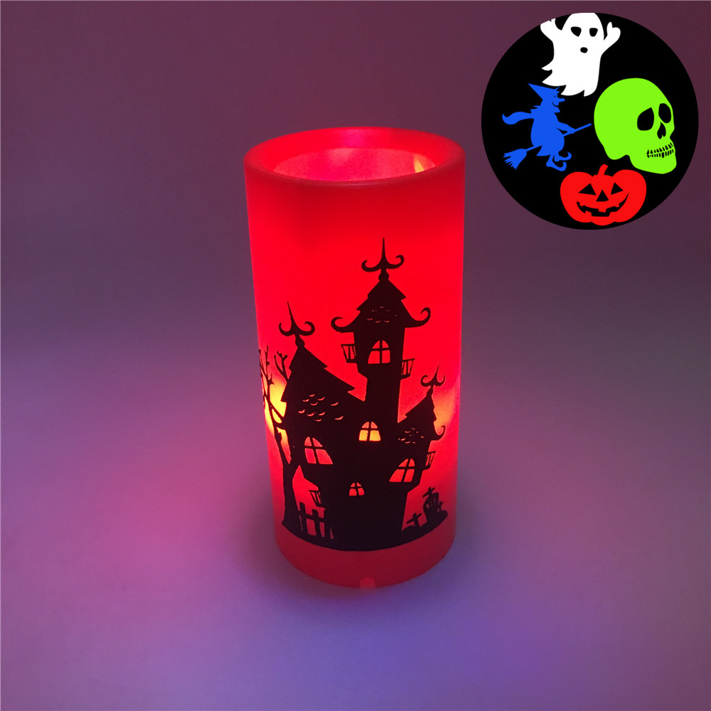 Led Candle Projector Light Christmas Halloween Disco Image