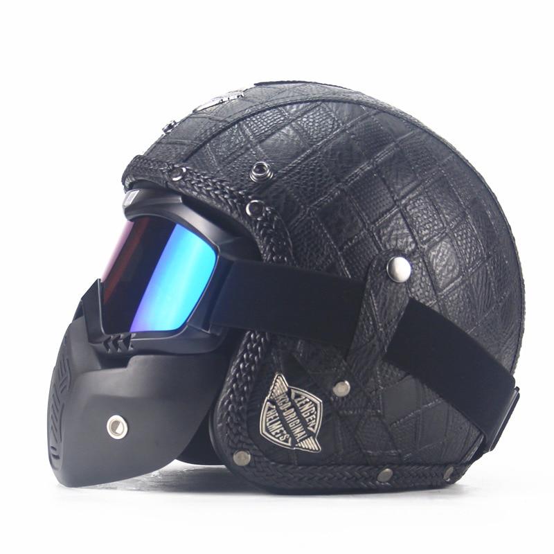 Motocrosshjälm Mask Avtagbar glasögon och munfilter Perfekt för - Motorcykel tillbehör och delar - Foto 4