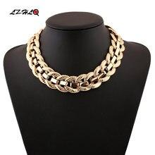 Ожерелье lzhlq в стиле стимпанк женские массивные ожерелья и