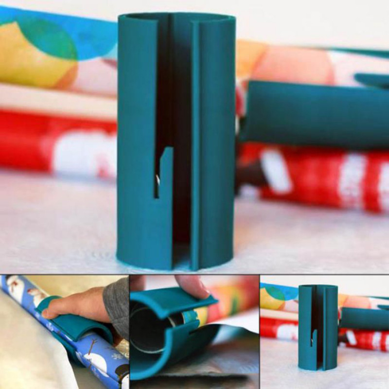 Xmas Supplies Wrapping Paper Cutter Christmas Wrapping Paper Roll Cutter Paper  Cutting Tools Gift Paper Sliding Cutter-1