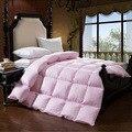 Три цвета зима Теплая шелковистой 95% Гусиный Пух одеяло король королева полная двойной размер одеяла
