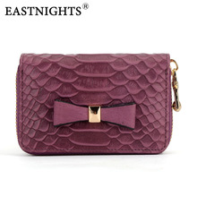 EASTNIGHTS 2016 new arrival women wallets genuine leather credit card holder bank case coin purse  TW1300