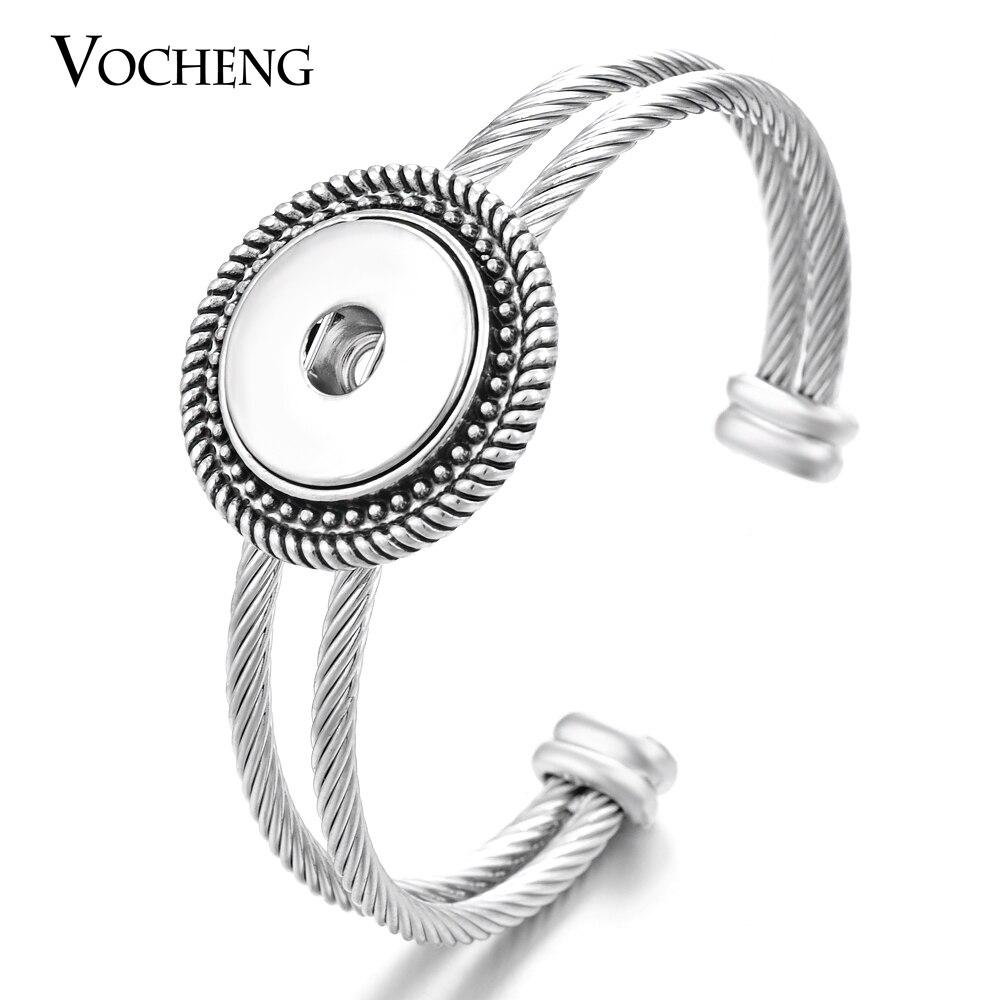 Wholesale 10pcs/lot Vocheng Ginger Snaps Jewelry 18mm Custom Cuff Bangle NN-401*10 Free Shipping