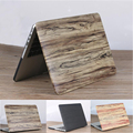 """Ultrathin Wood Grain PC Laptop Bag Case for Macbook Air Pro Retina 11""""12""""13""""15"""", PU Leather Notebook Computer Protective Cover"""