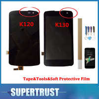 """1PC/Lot 4.5""""For LG K4 LTE K4 4G K120 K120E K130 K130E LCD Display+Touch Screen Digitizer Assembly Black Color With kit"""