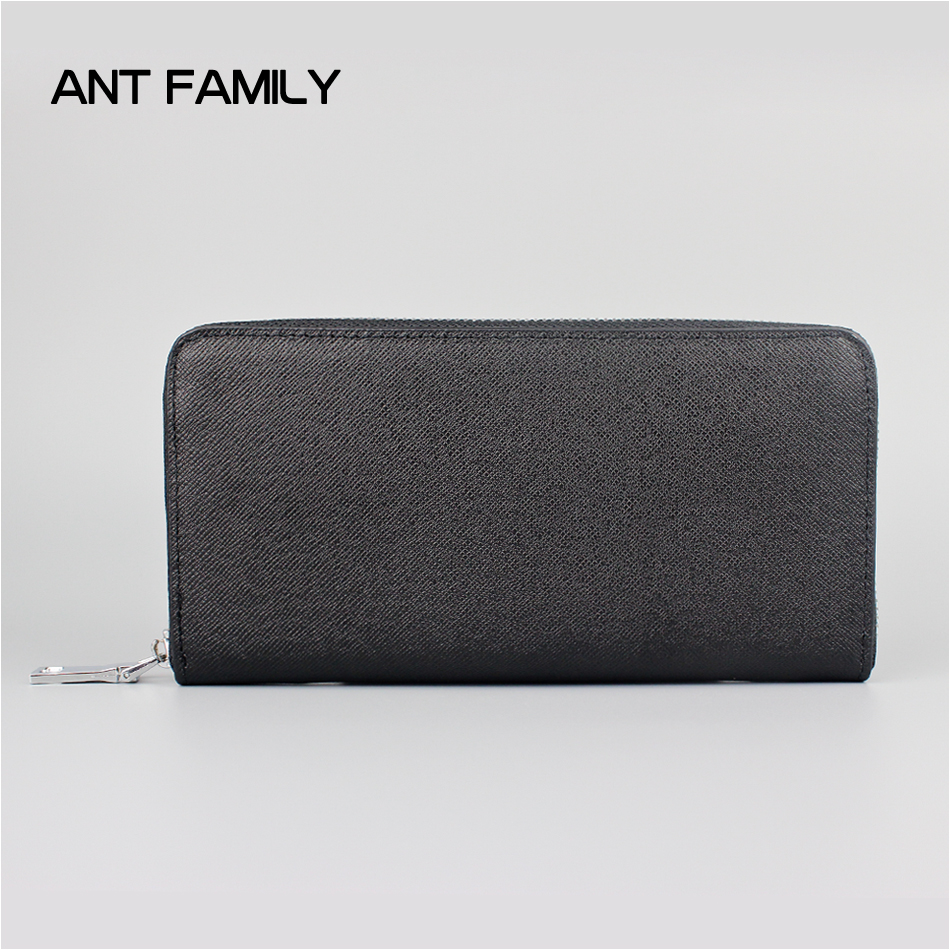 Genuine Leather Wallet Men High Quality Coin Purse Long Zipper Wallets 2017 Large Capacity Male Business Clutch Phone Bag Black 2014 fashion genuine leather men wallets business style long wallet high quality credit coin purse solid soft letter male pouch