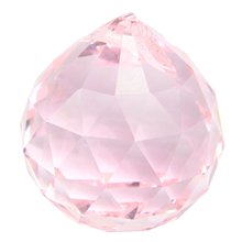 30 мм Vintage Кристалл Розовый Фэн-Шуй Мяч